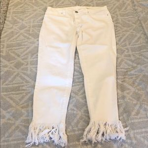 Blank NYC frayed white jeans